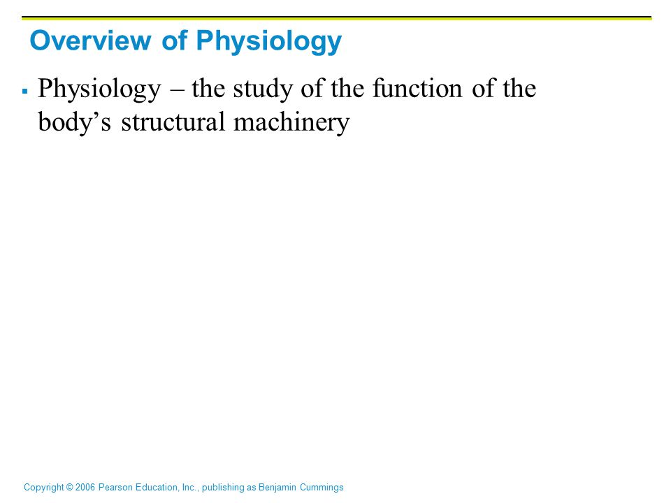 Overview of Physiology