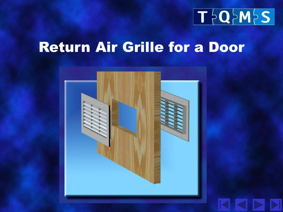 Return Air Grille for a Door