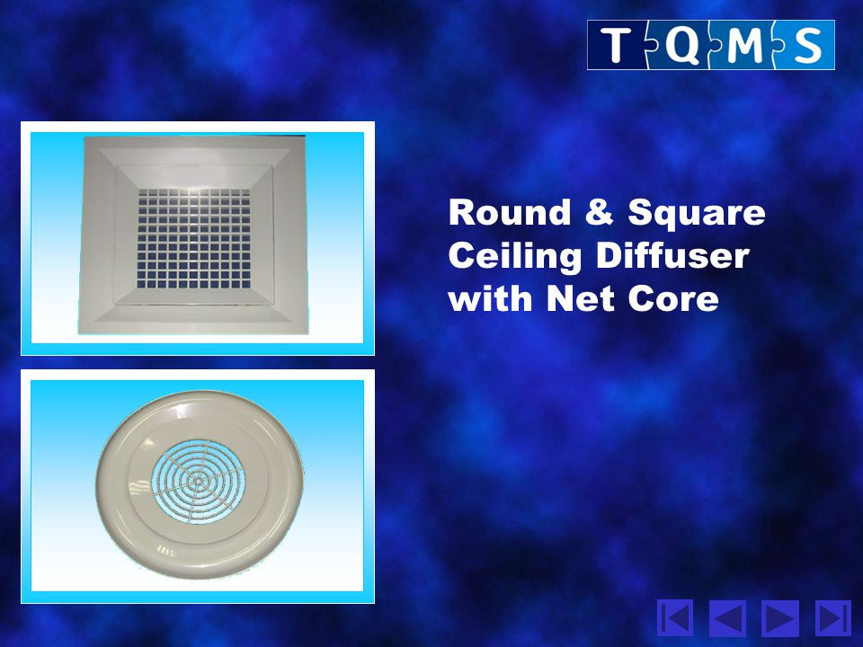 Round & Square Ceiling Diffuser with Net Core