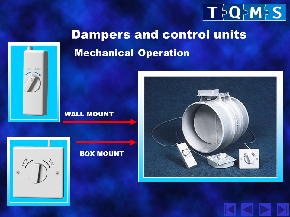 Dampers and control units