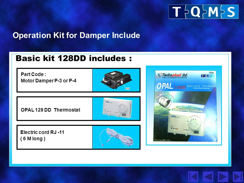 Operation Kit for Damper Include