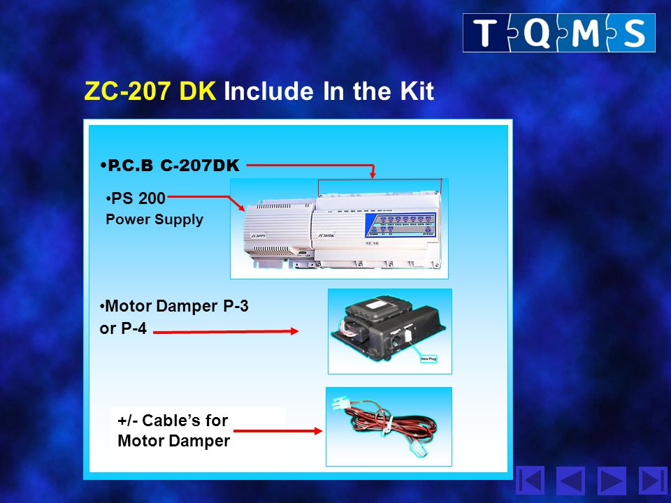 ZC-207 DK Include In the Kit