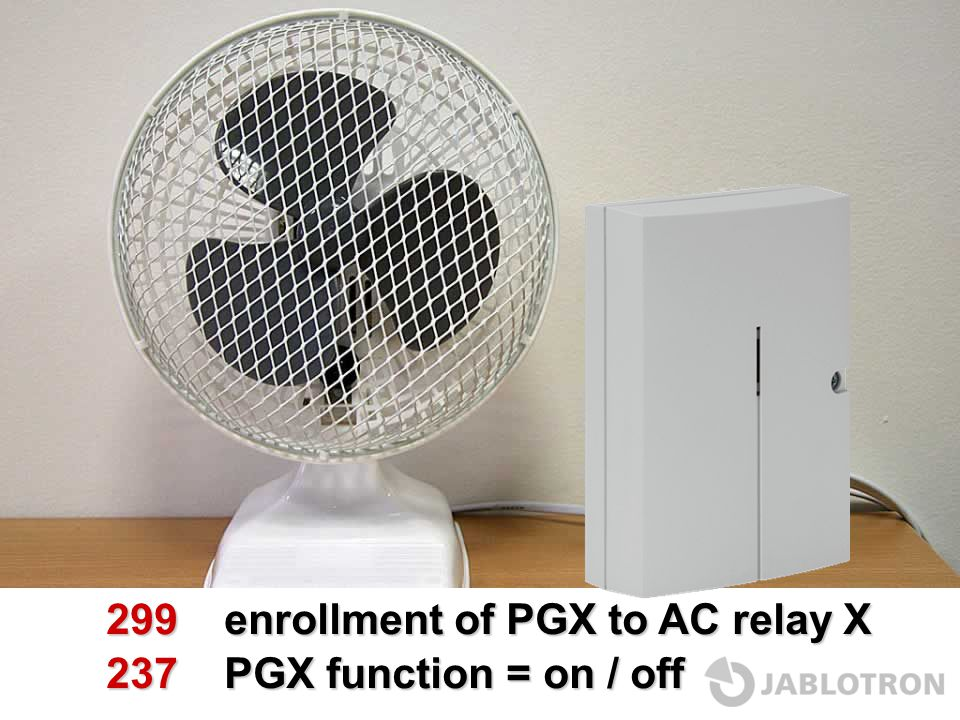 299 enrollment of PGX to AC relay X