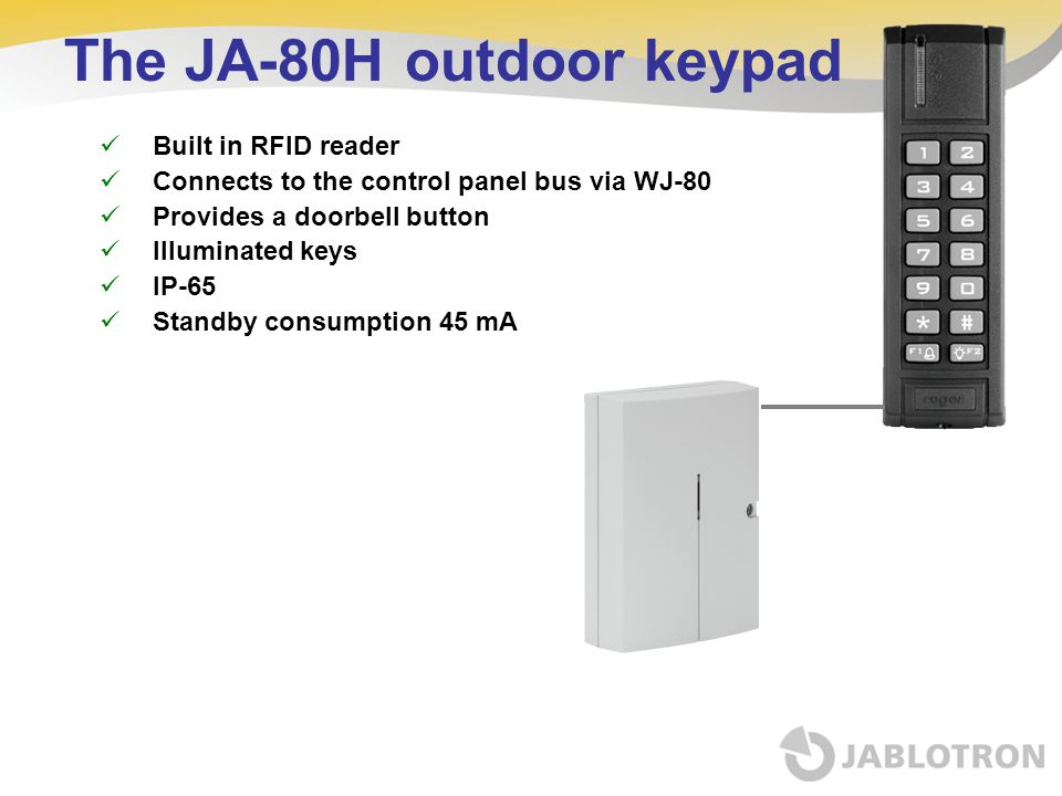 The JA-80H outdoor keypad