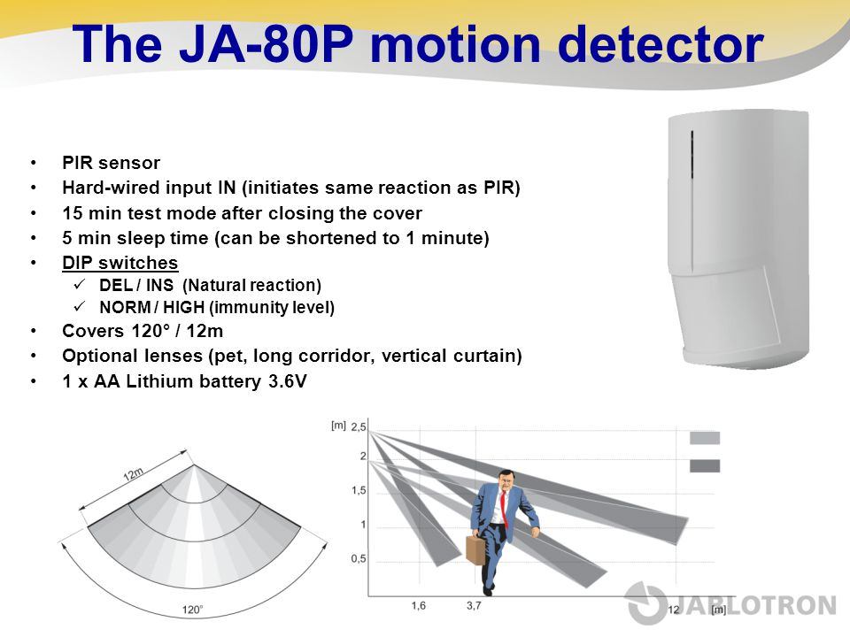 The JA-80P motion detector