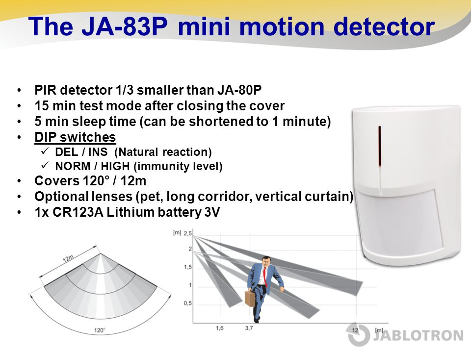 The JA-83P mini motion detector