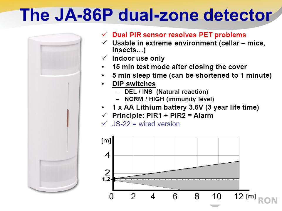 The JA-86P dual-zone detector