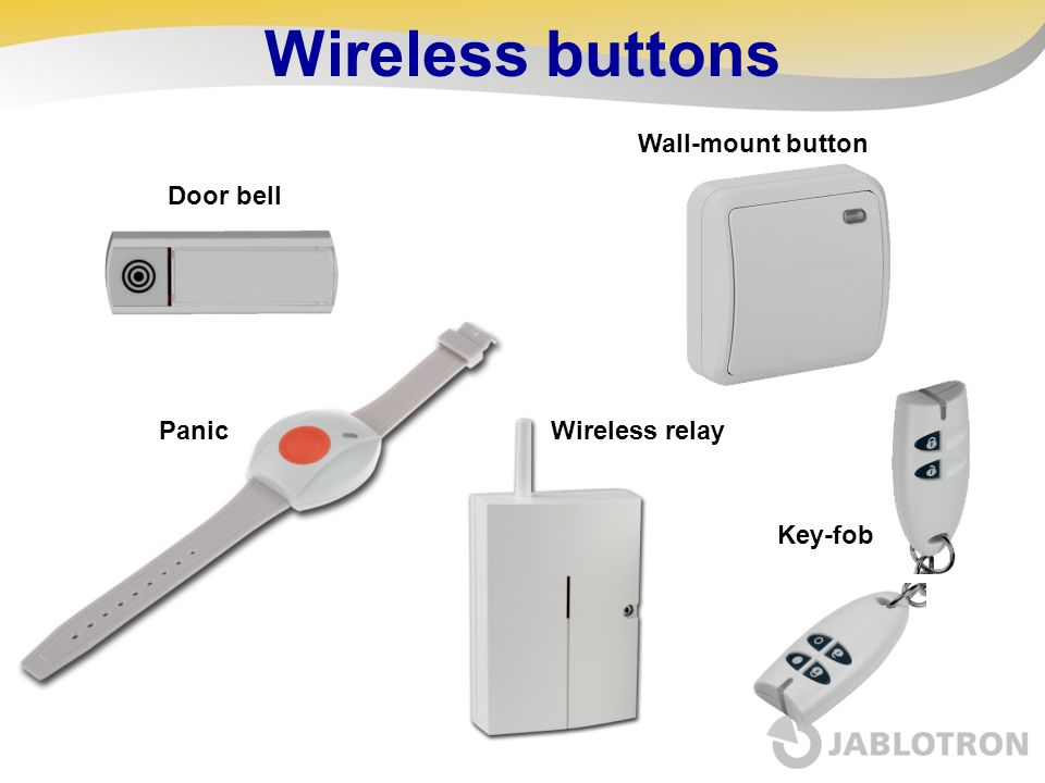 Wireless buttons Wall-mount button Door bell Panic Wireless relay