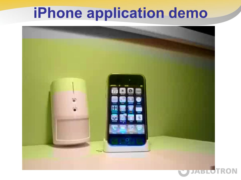 iPhone application demo