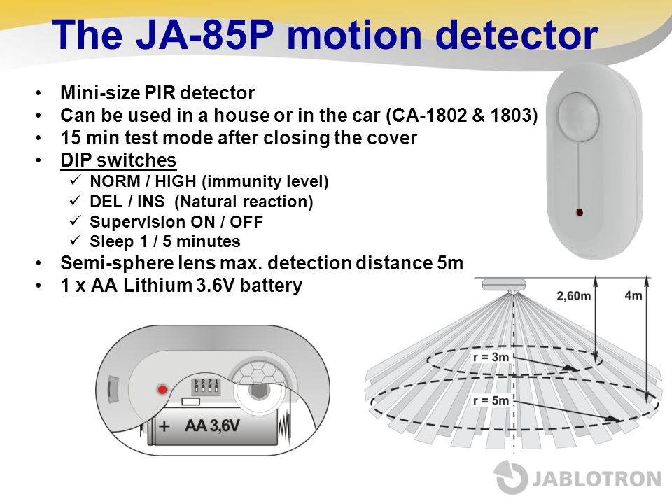 The JA-85P motion detector