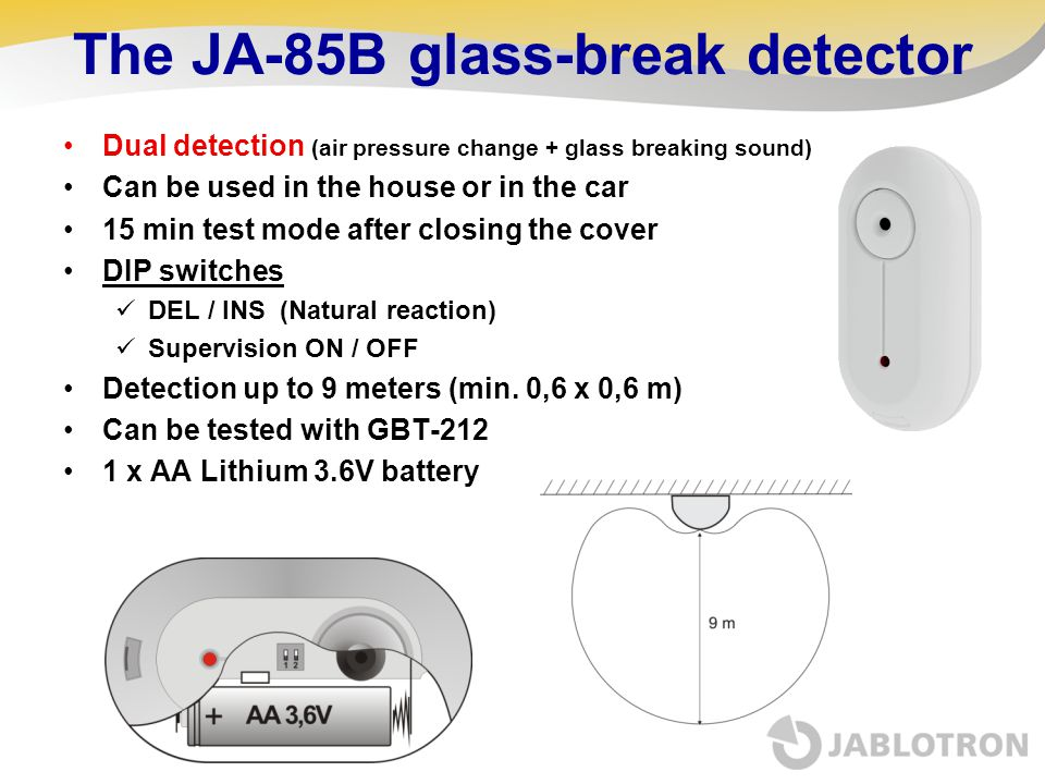 The JA-85B glass-break detector