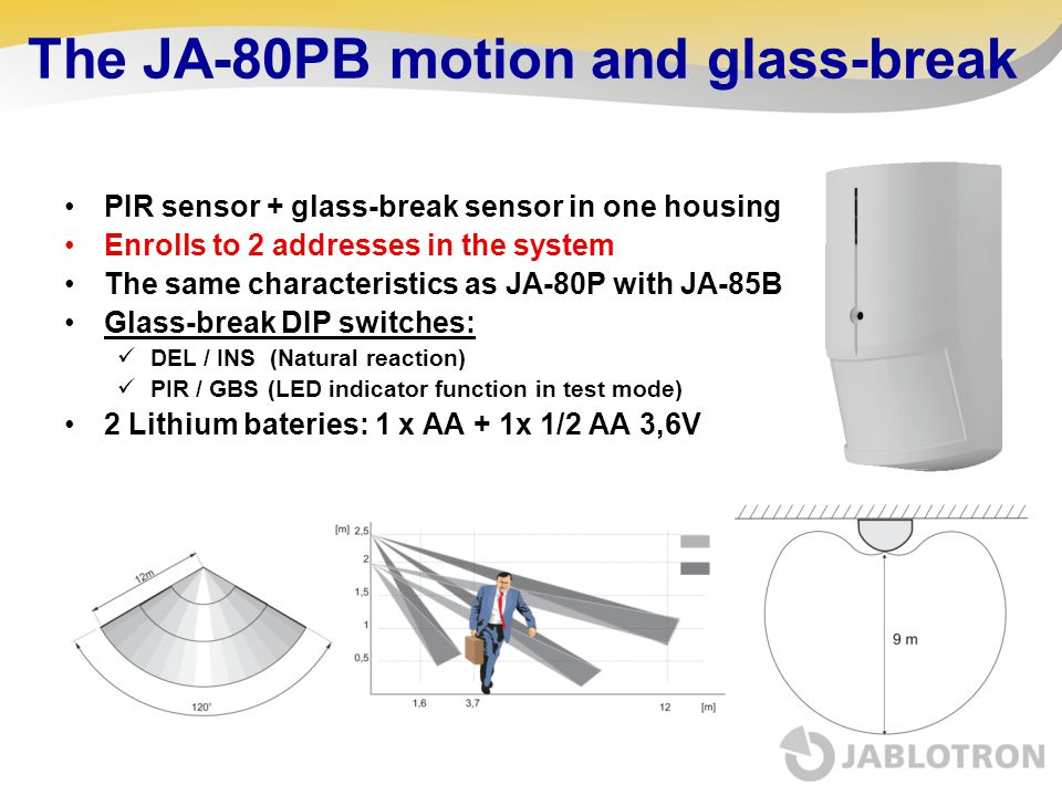 The JA-80PB motion and glass-break