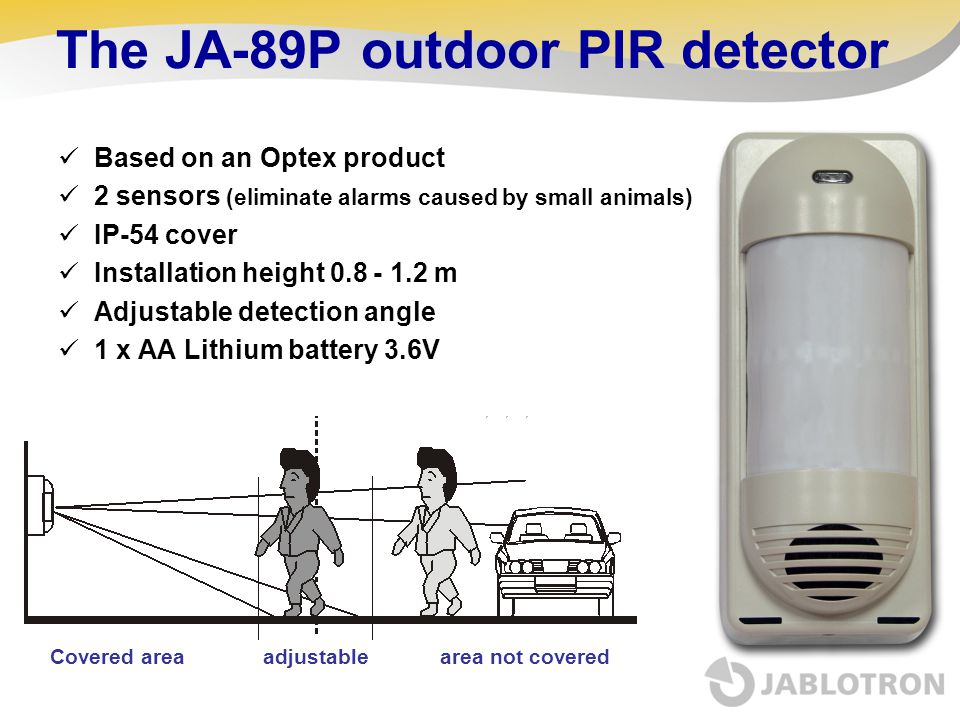 The JA-89P outdoor PIR detector