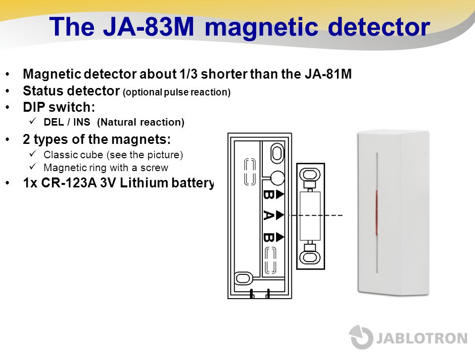 The JA-83M magnetic detector