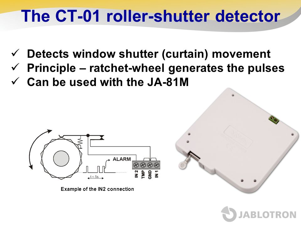 The CT-01 roller-shutter detector