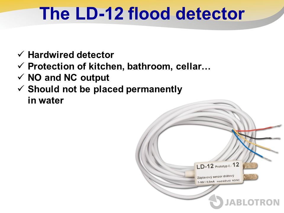 The LD-12 flood detector Hardwired detector