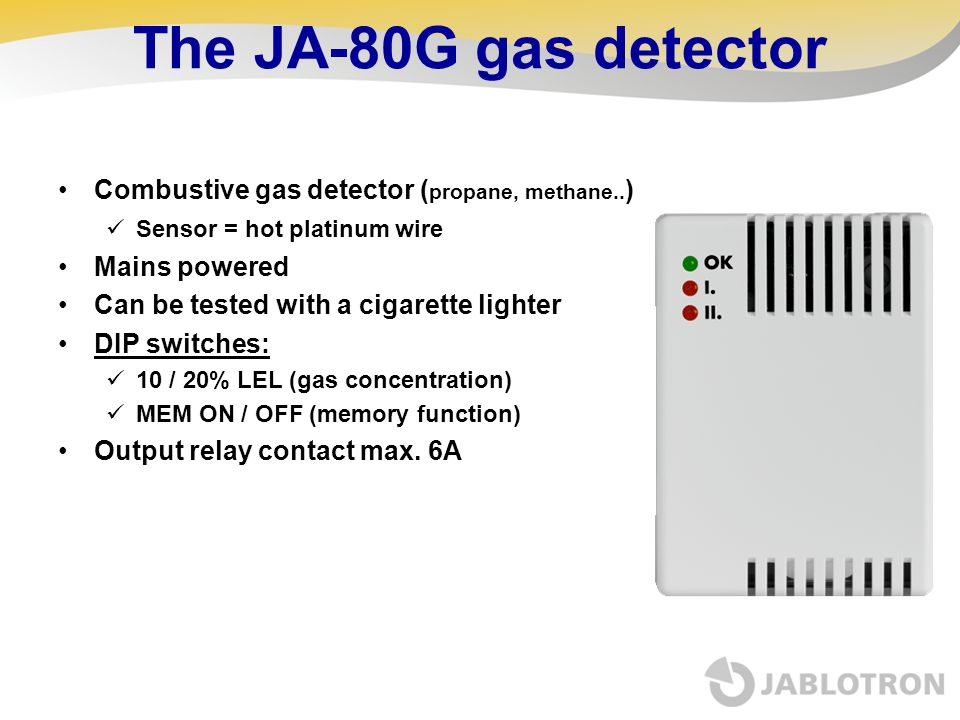 The JA-80G gas detector Combustive gas detector (propane, methane..)