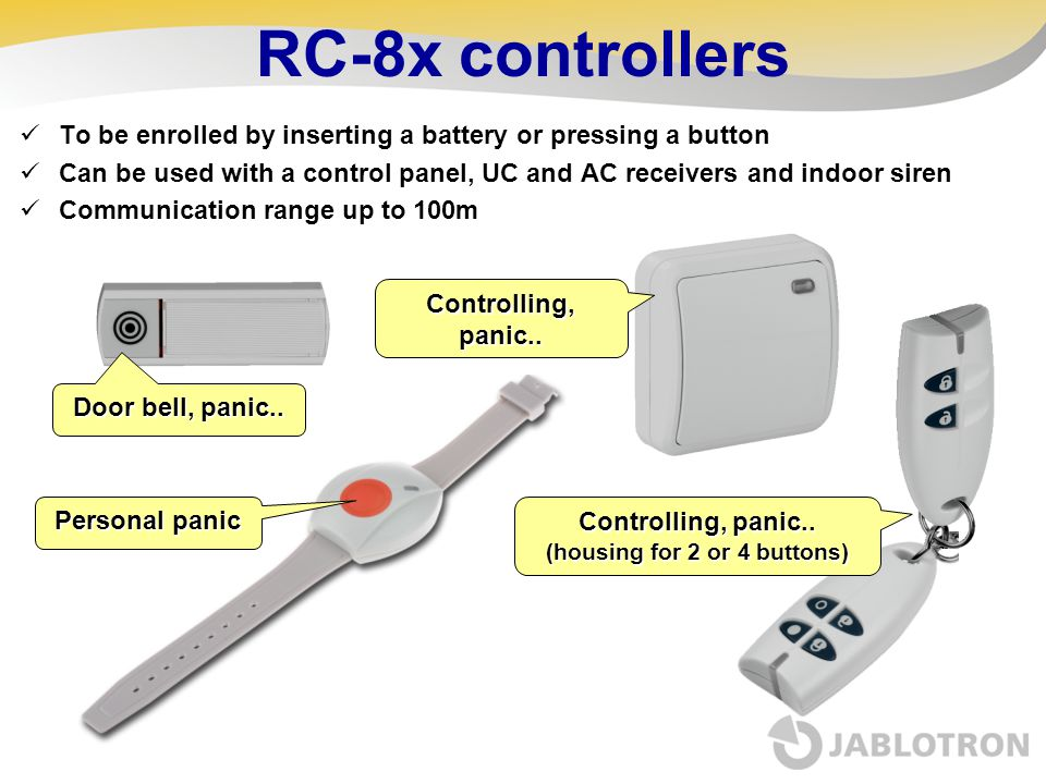 Controlling, panic.. (housing for 2 or 4 buttons)