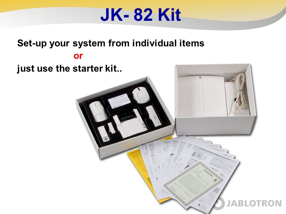 JK- 82 Kit Set-up your system from individual items or