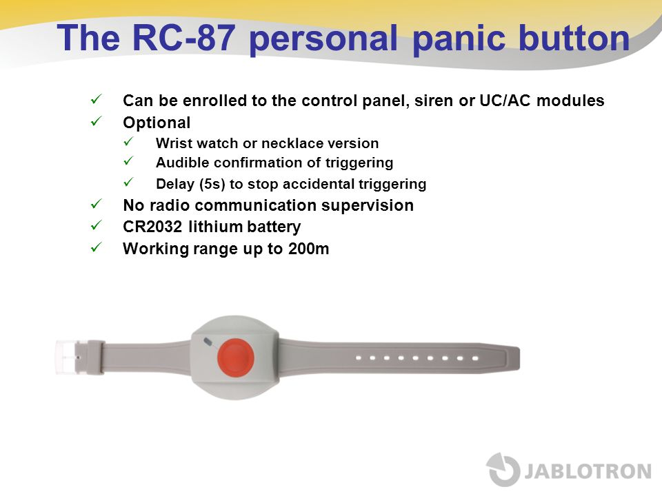 The RC-87 personal panic button