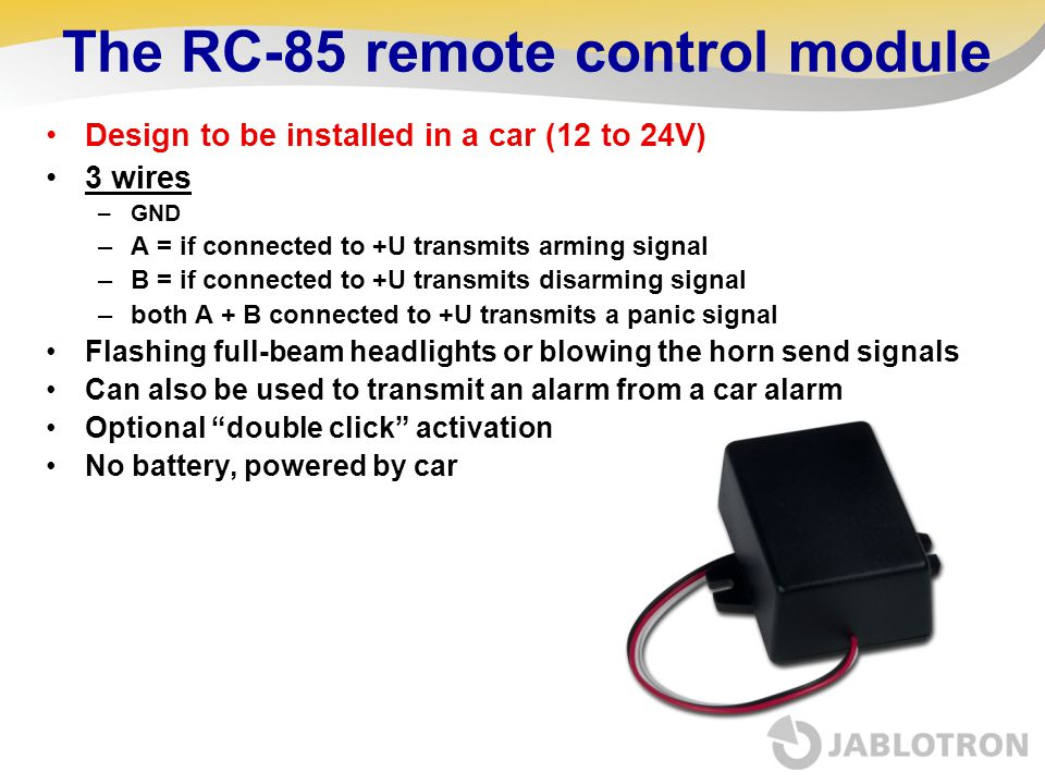 The RC-85 remote control module