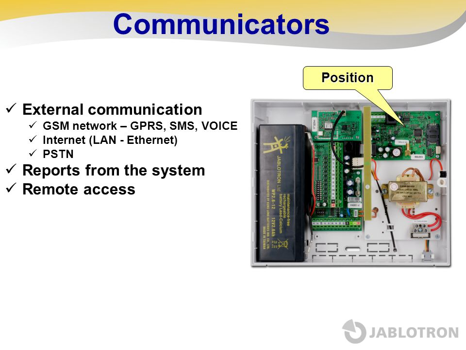 Communicators External communication Reports from the system