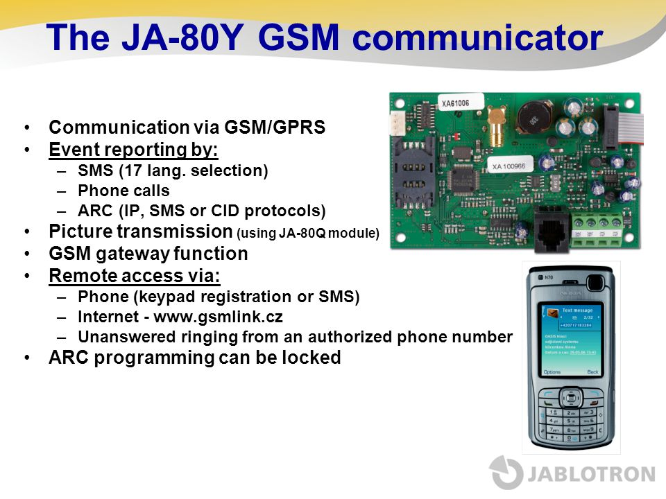 The JA-80Y GSM communicator