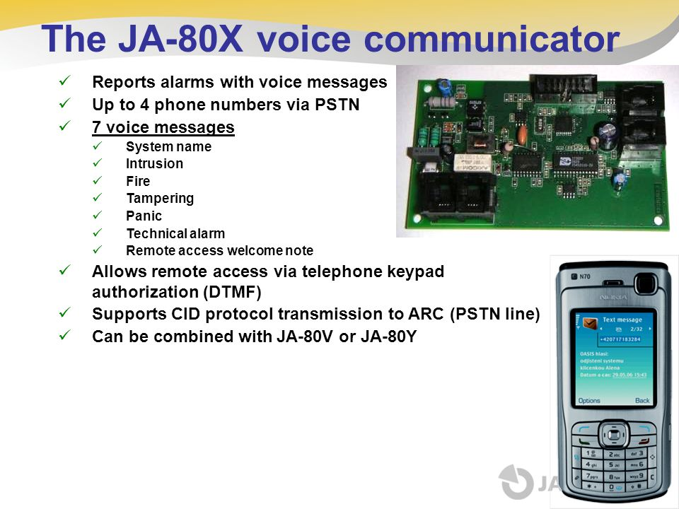 The JA-80X voice communicator