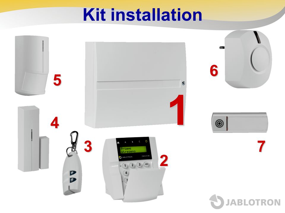 Kit installation 6 5 1 4 3 7 2