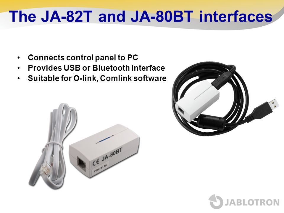 The JA-82T and JA-80BT interfaces