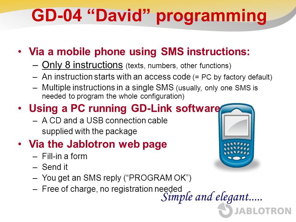GD-04 David programming