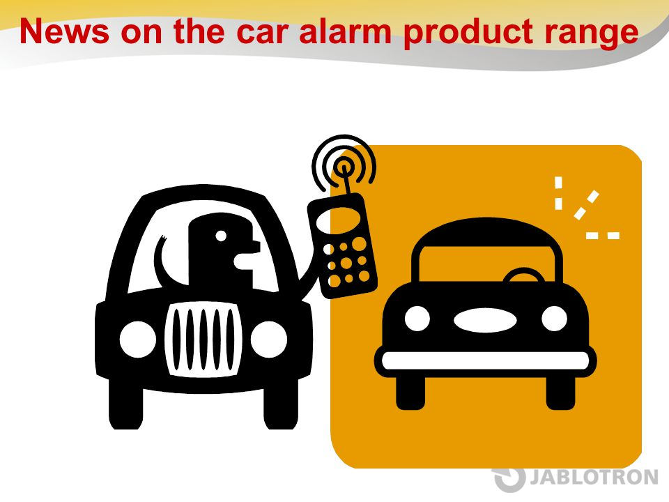 News on the car alarm product range