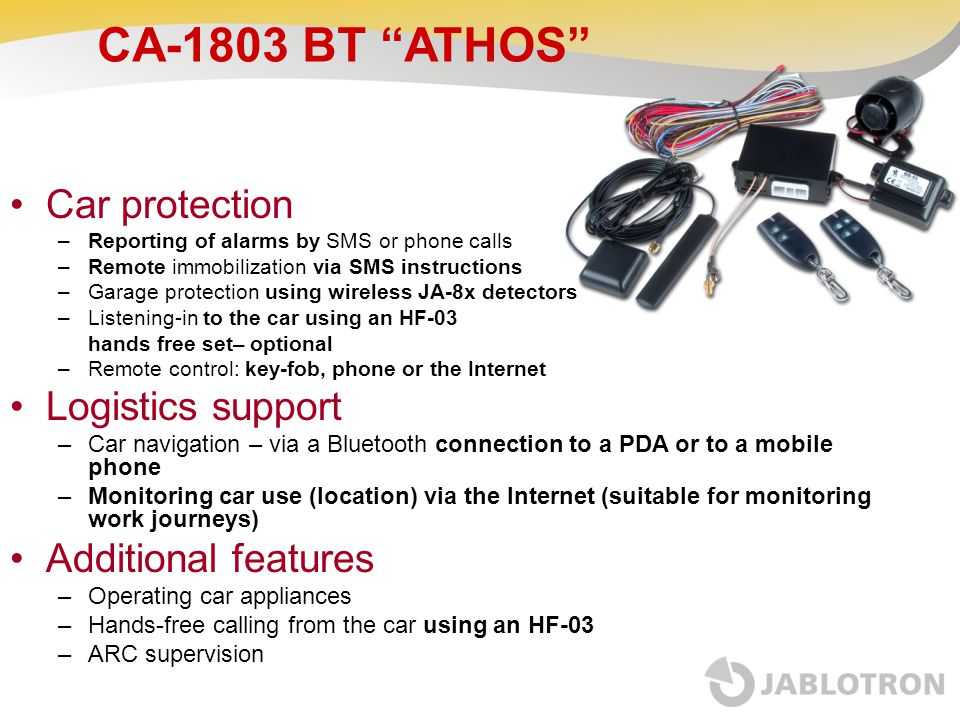 CA-1803 BT ATHOS Car protection Logistics support