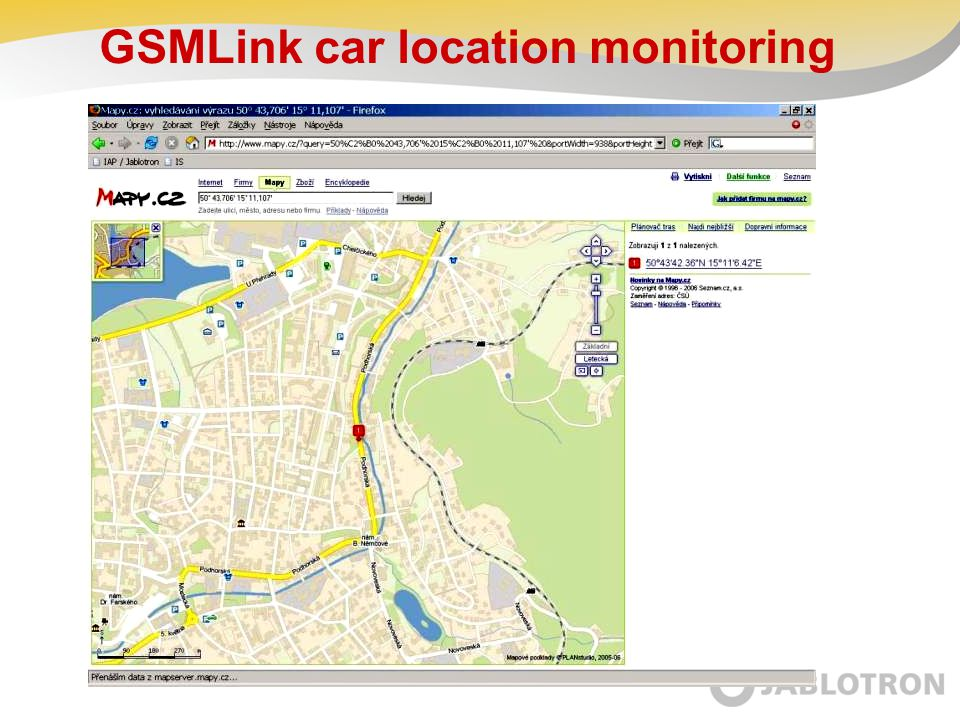 GSMLink car location monitoring