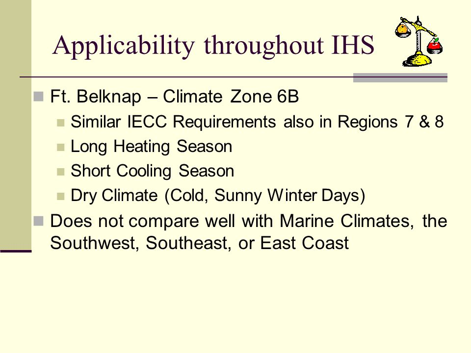 Applicability throughout IHS