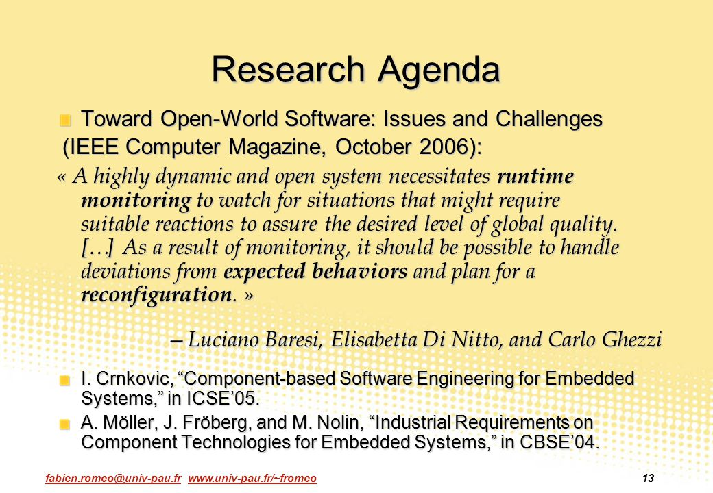Research Agenda Toward Open-World Software: Issues and Challenges