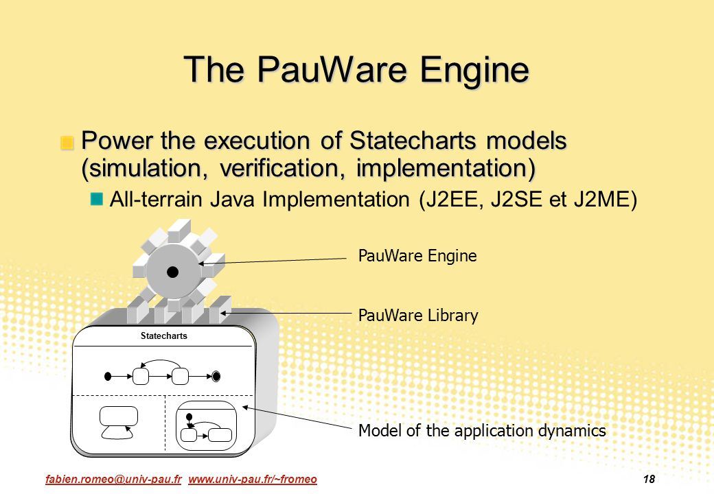 The PauWare Engine Power the execution of Statecharts models (simulation, verification, implementation)