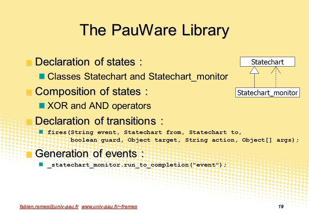 The PauWare Library Declaration of states : Composition of states :