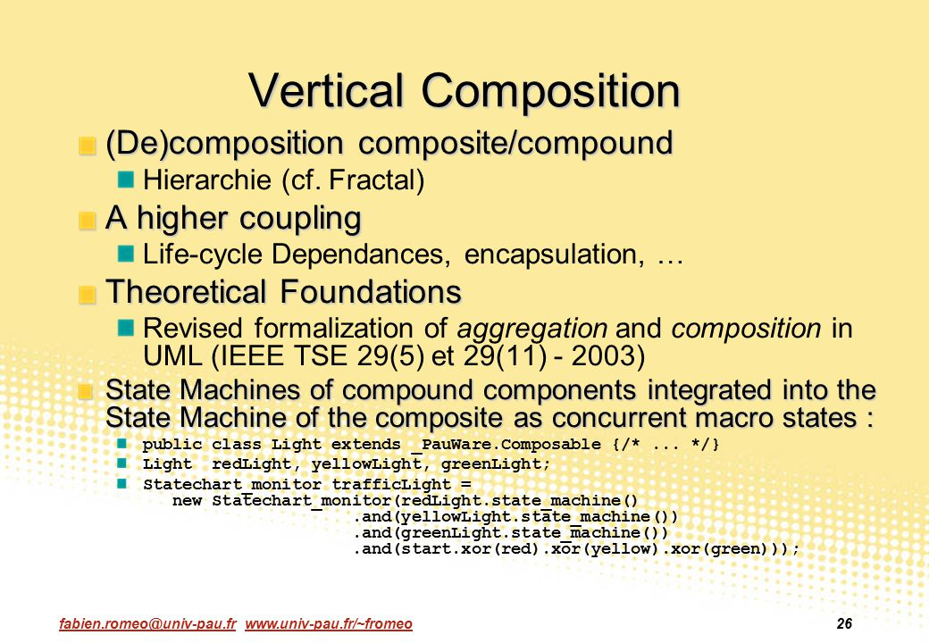 Vertical Composition (De)composition composite/compound