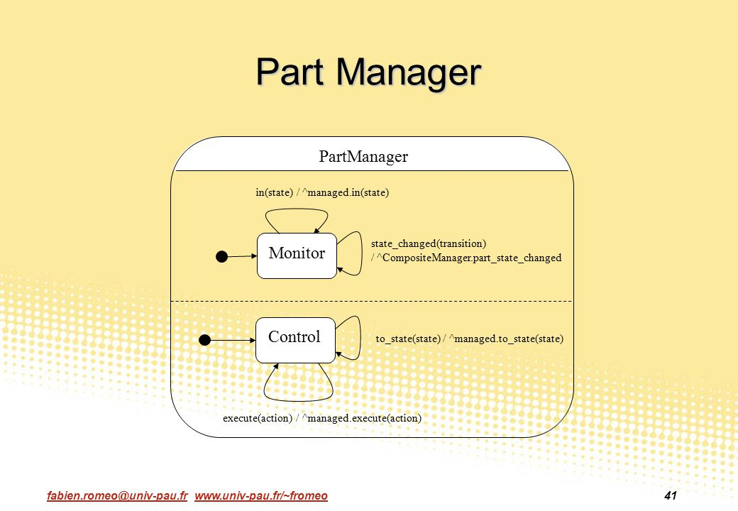 Part Manager PartManager Monitor Control