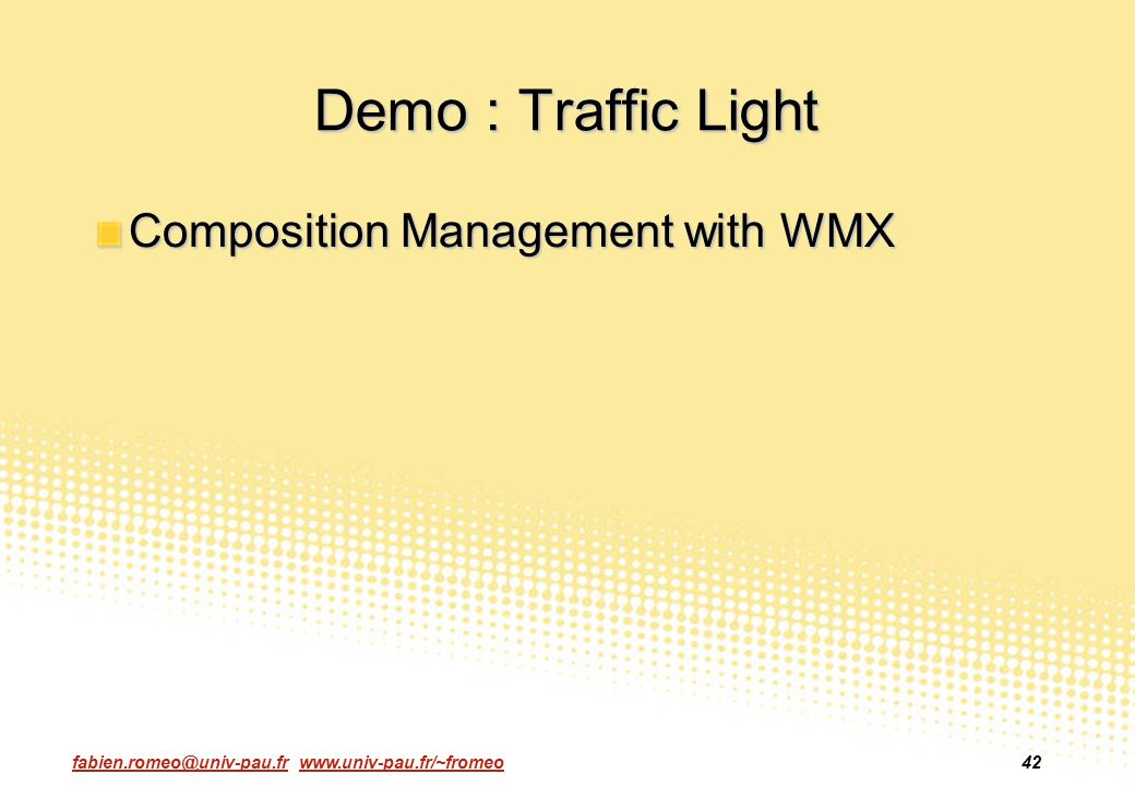 Demo : Traffic Light Composition Management with WMX