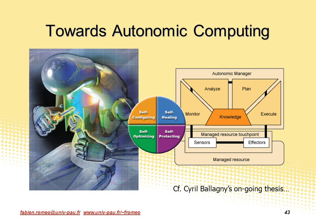 Towards Autonomic Computing