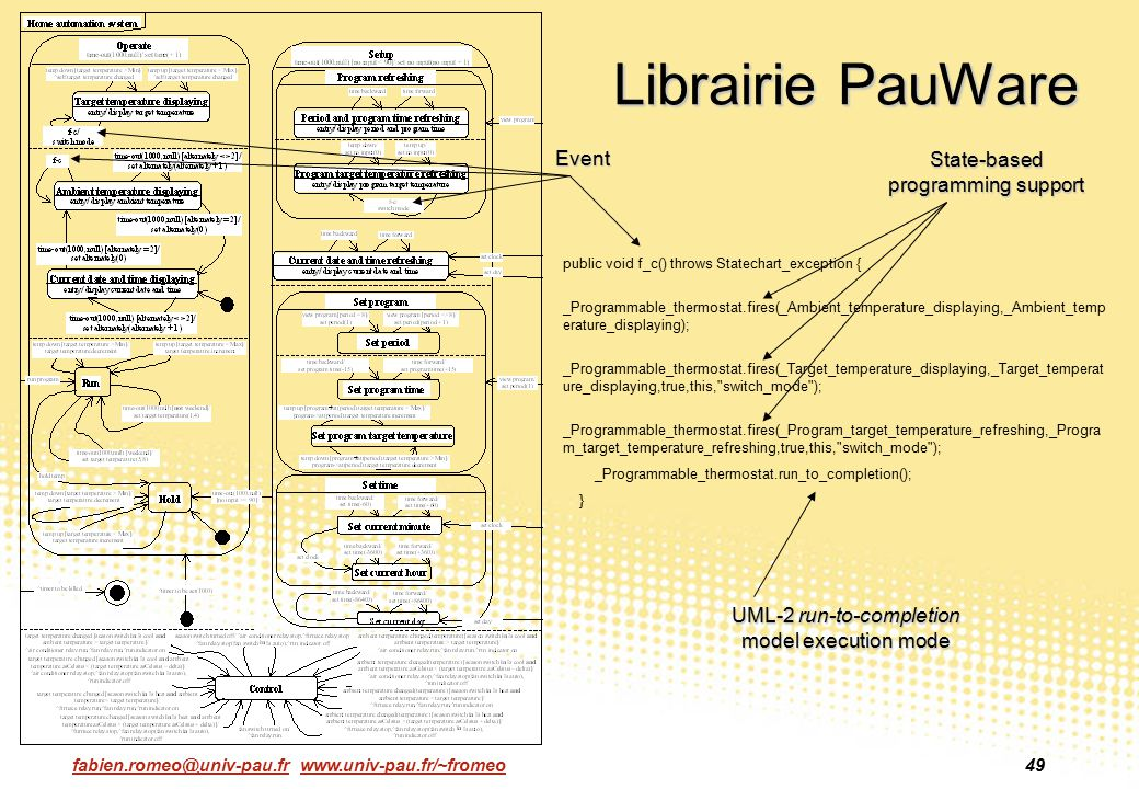 Librairie PauWare Event State-based programming support