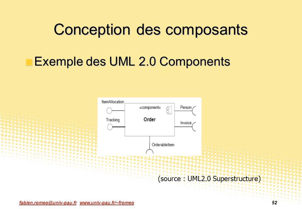 Conception des composants