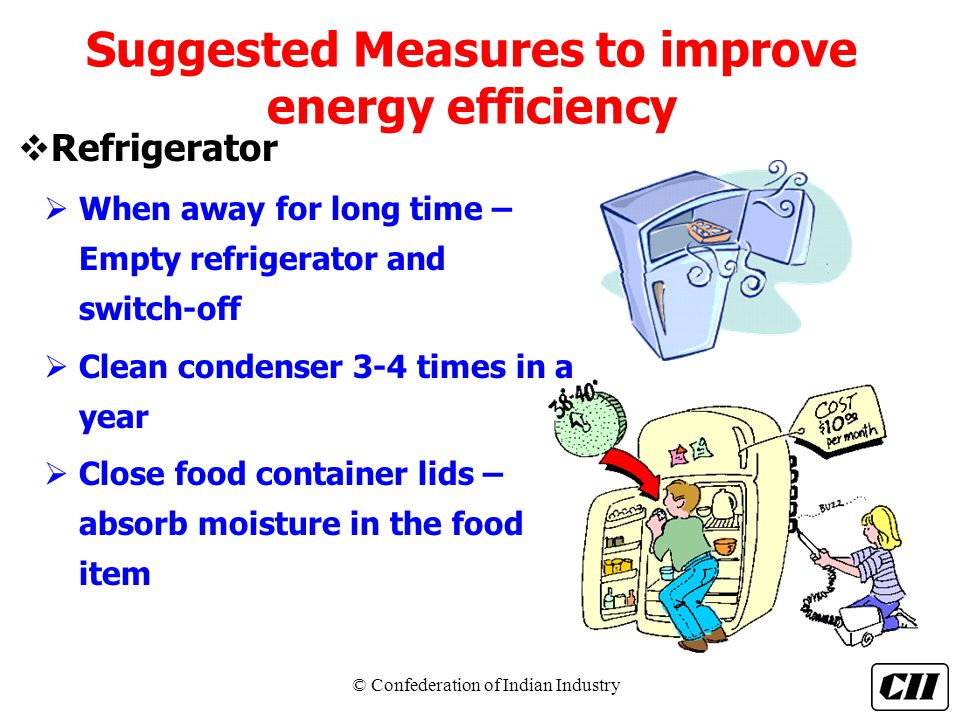 Suggested Measures to improve energy efficiency