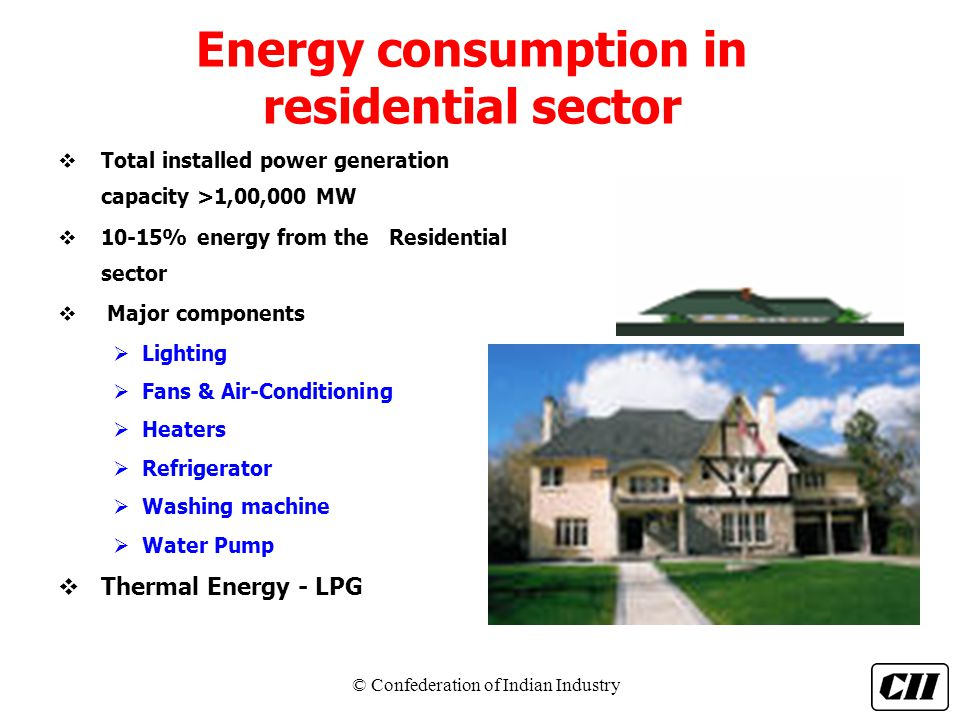 Energy consumption in residential sector