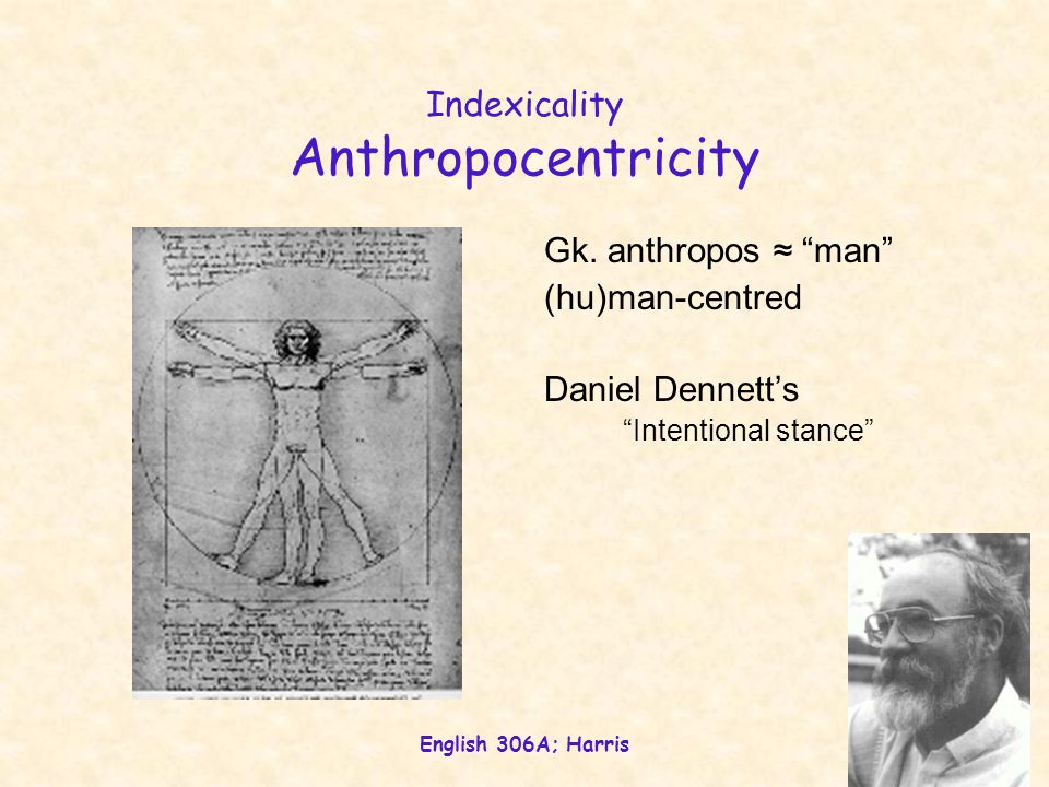 Indexicality Anthropocentricity