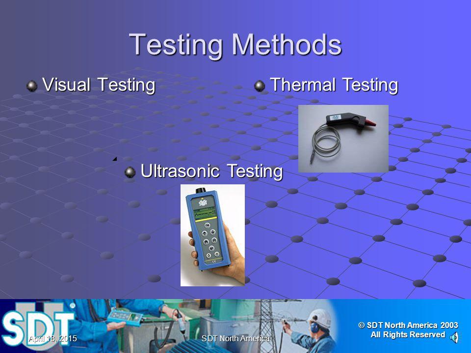 Testing Methods Visual Testing Thermal Testing Ultrasonic Testing
