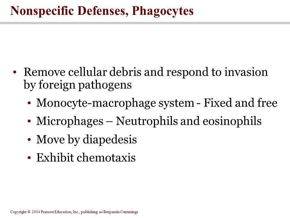 Nonspecific Defenses, Phagocytes