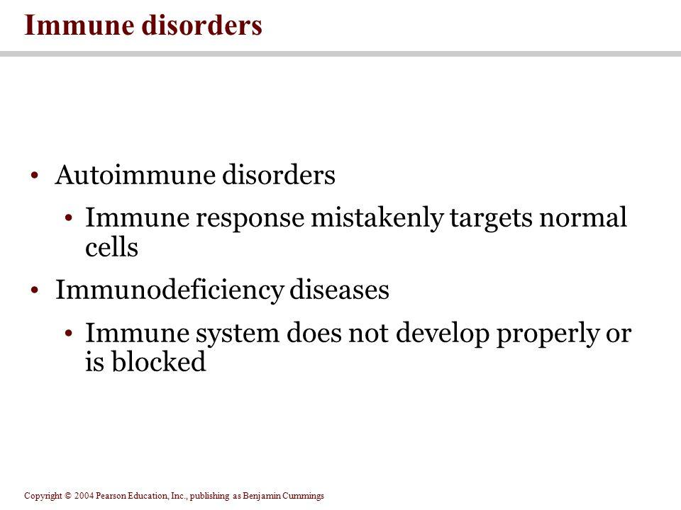 Immune disorders Autoimmune disorders
